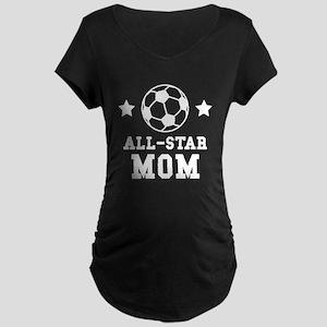 All Star Soccer Mom Maternity T-Shirt