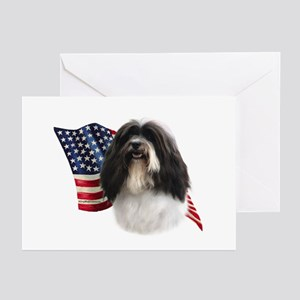 Havanese Flag Greeting Cards (Pk of 10)