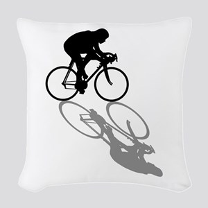 Cycling Bike Woven Throw Pillow