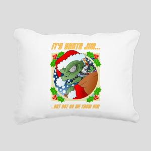 Its Santa Jim... Rectangular Canvas Pillow