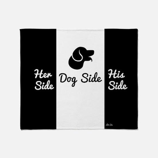 Dog Side vs His/Her Side Bedspread Throw Blanket