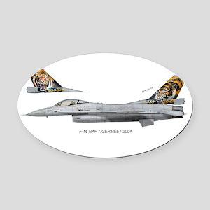 nafTiger04 Oval Car Magnet