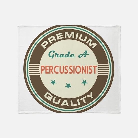 Percussionist Vintage Throw Blanket