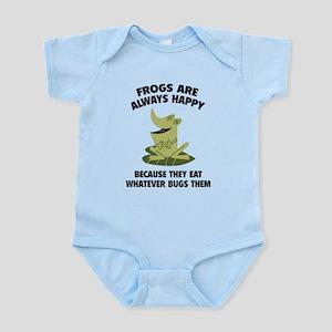Frogs Are Always Happy Infant Bodysuit