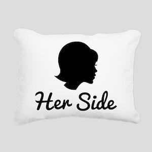 Her Side Rectangular Canvas Pillow