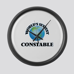 World's Sexiest Constable Large Wall Clock
