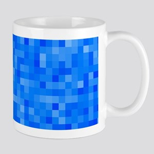Blue Pixel Mosaic Mug