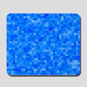 Blue Pixel Mosaic Mousepad