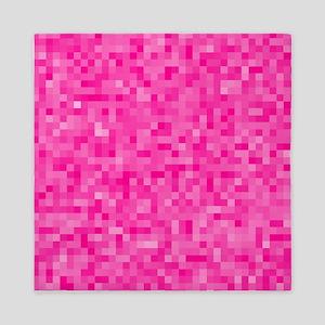 Pink Pixel Mosaic Queen Duvet