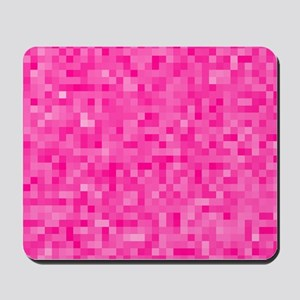 Pink Pixel Mosaic Mousepad