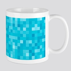 Turquoise Pixel Mosaic Mug