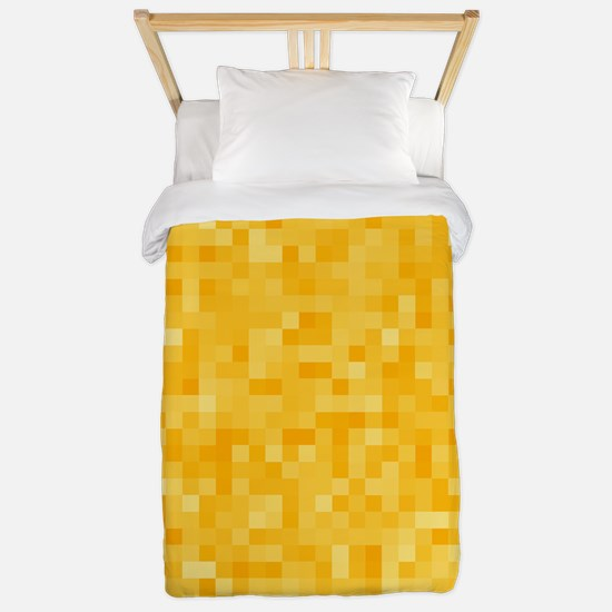 Yellow Pixel Mosaic Twin Duvet