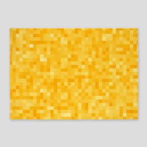 Yellow Pixel Mosaic 5'x7'Area Rug