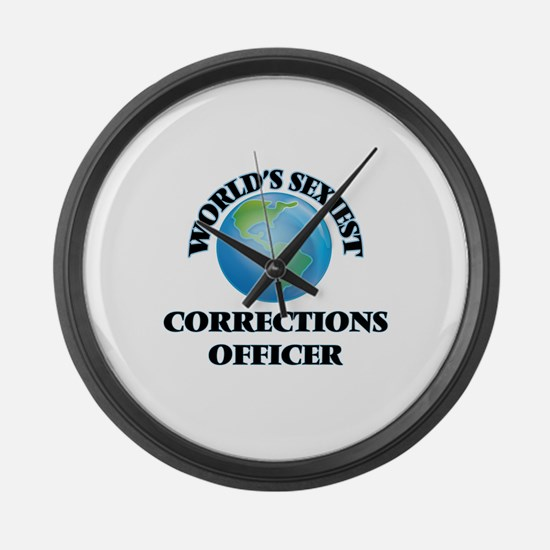 World's Sexiest Corrections Offic Large Wall Clock