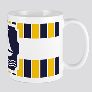 Nautical Sailboat Stripes Mug