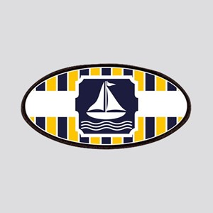 Nautical Sailboat Stripes Patches