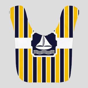 Nautical Sailboat Stripes Bib