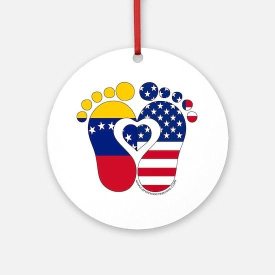 Venezuelan American Baby Ornament (Round)