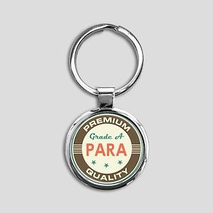 Para Vintage Round Keychain