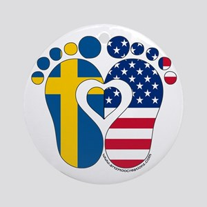 Swedish American Baby Ornament (Round)