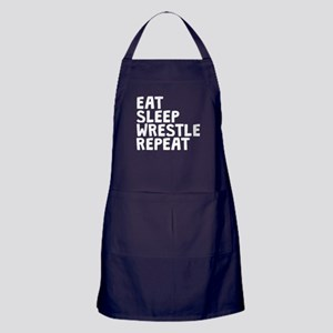Eat Sleep Wrestle Repeat Apron (dark)