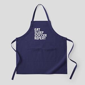 Eat Sleep Soccer Repeat Apron (dark)