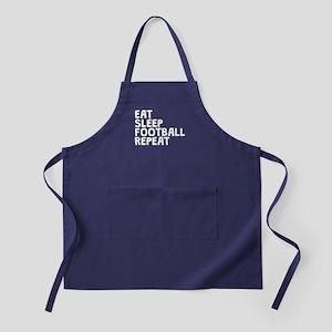 Eat Sleep Football Repeat Apron (dark)