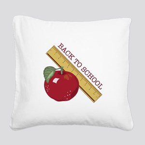 Back To School Square Canvas Pillow