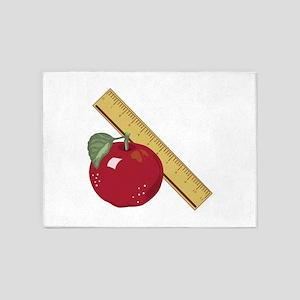 Apple & Ruler 5'x7'Area Rug