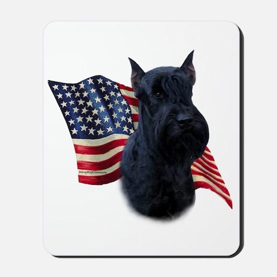Giant Schnauzer Flag Mousepad