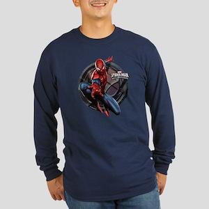 Web Warriors Spider-Man Long Sleeve Dark T-Shirt