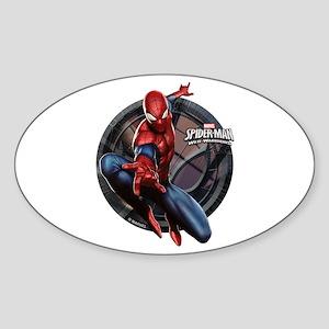 Web Warriors Spider-Man Sticker (Oval)