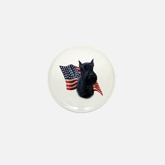 Giant Schnauzer Flag Mini Button