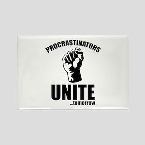 Procrastinators Unite ... Tomorrow Rectangle Magne
