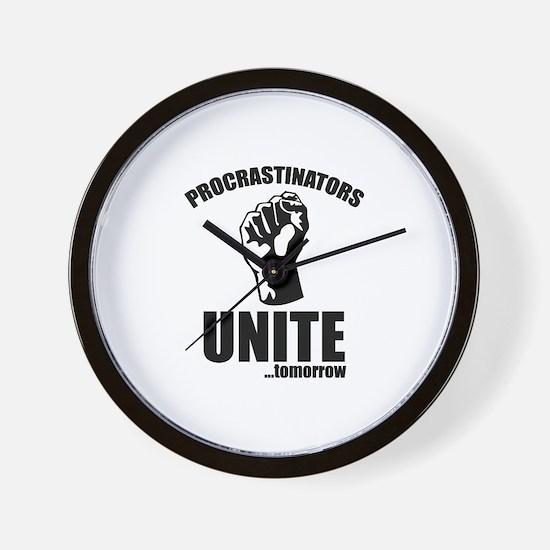 Procrastinators Unite ... Tomorrow Wall Clock