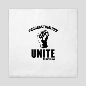 Procrastinators Unite ... Tomorrow Queen Duvet
