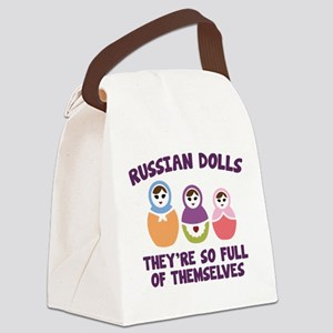 Russian Dolls Canvas Lunch Bag