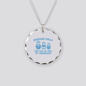 Russian Dolls Necklace Circle Charm