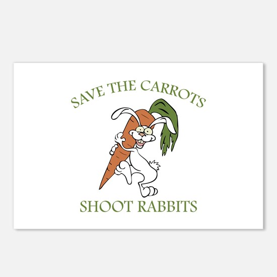 Save The Carrots Shoot Rabbits Postcards (Package