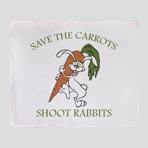 Save The Carrots Shoot Rabbits Stadium Blanket