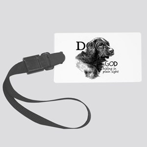 Vintage Dog God Large Luggage Tag