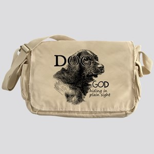 Vintage Dog God Messenger Bag