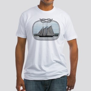 Schooner Ernestina Fitted T-Shirt