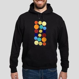 Bright Polka Dots Hoodie (dark)