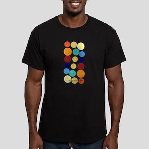 Bright Polka Dots Men's Fitted T-Shirt (dark)