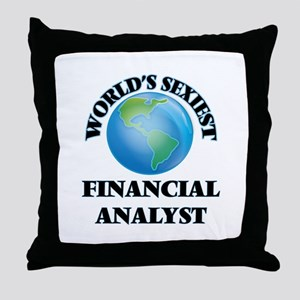 World's Sexiest Financial Analyst Throw Pillow