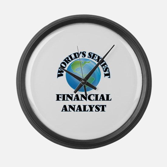 World's Sexiest Financial Analyst Large Wall Clock