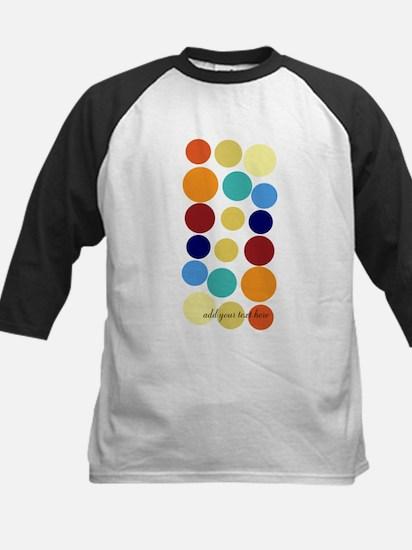 Bright Polka Dots Kids Baseball Jersey