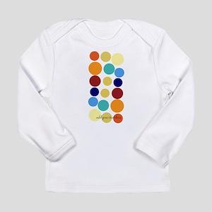 Bright Polka Dots Long Sleeve Infant T-Shirt