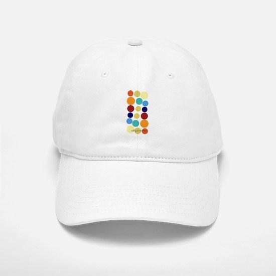 Bright Polka Dots Baseball Baseball Cap